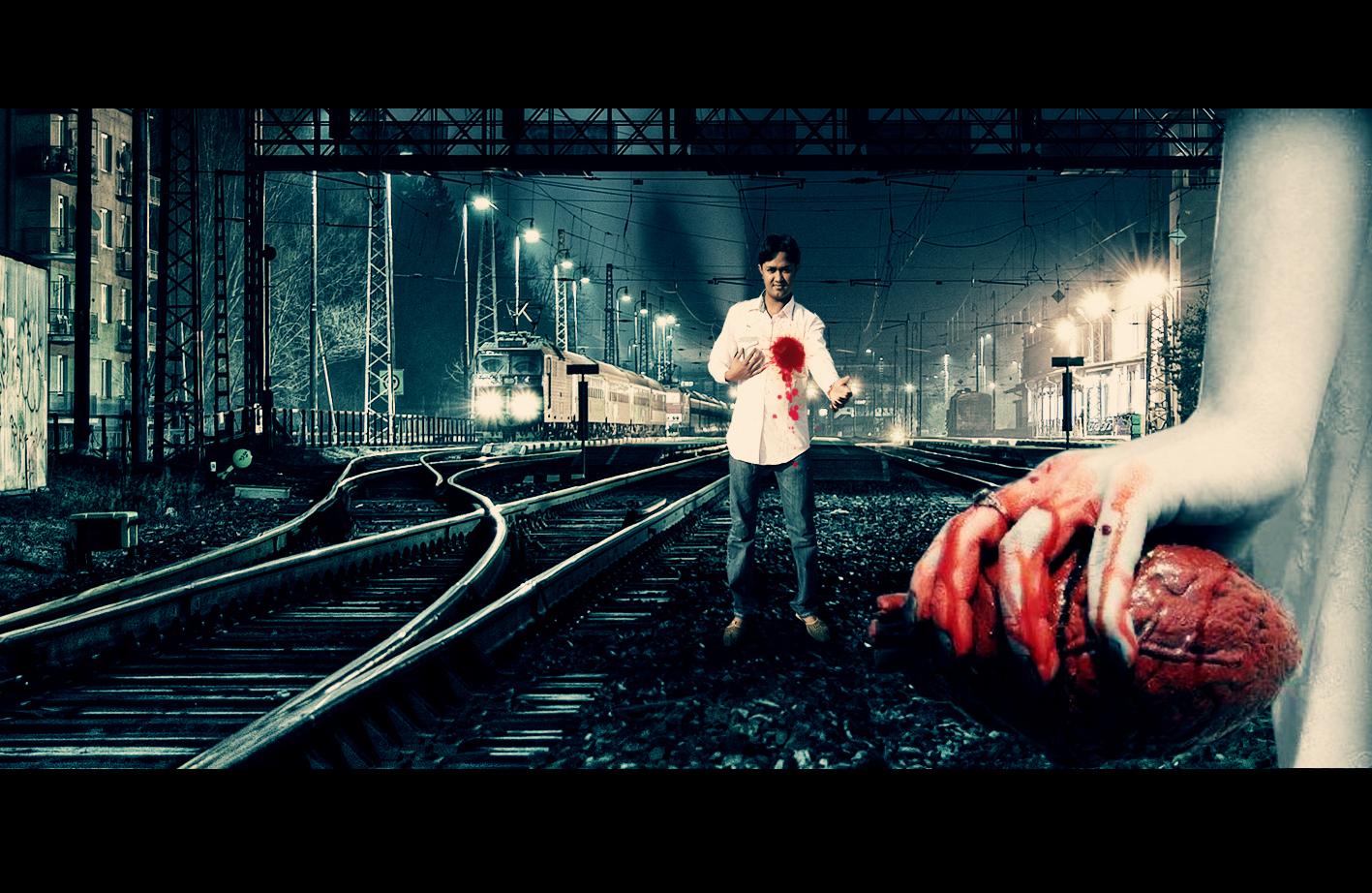 brilliant photo manipulation heart broken wallpaper