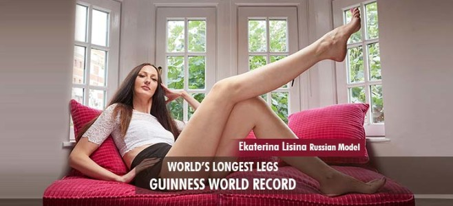Ekaterina lisina russian model longest legs Guinness World Record