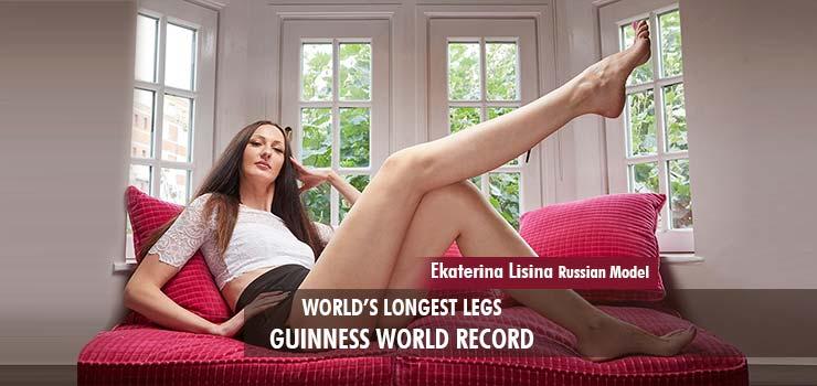 Ekaterina lisina russian model longest legs Guinness World Record
