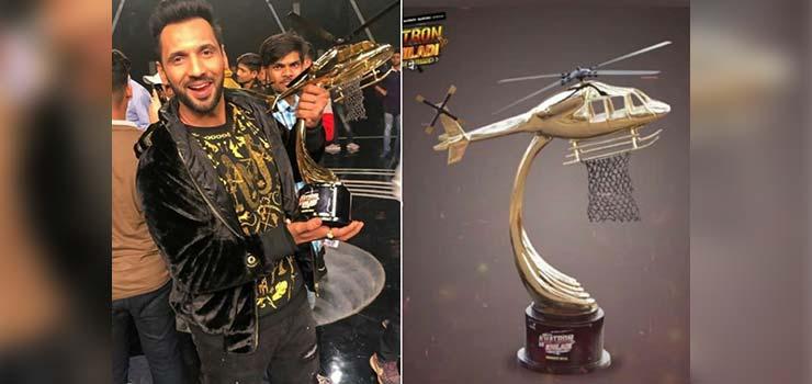 Puneit Pathak win the trophy of Khatron Ke Khiladi 9