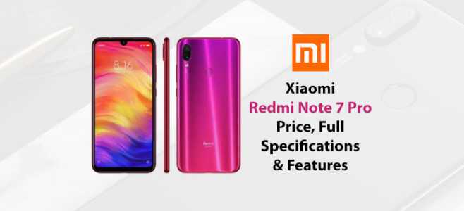 Redmi Note 7 Pro 48MP Camera full Specifications & Features